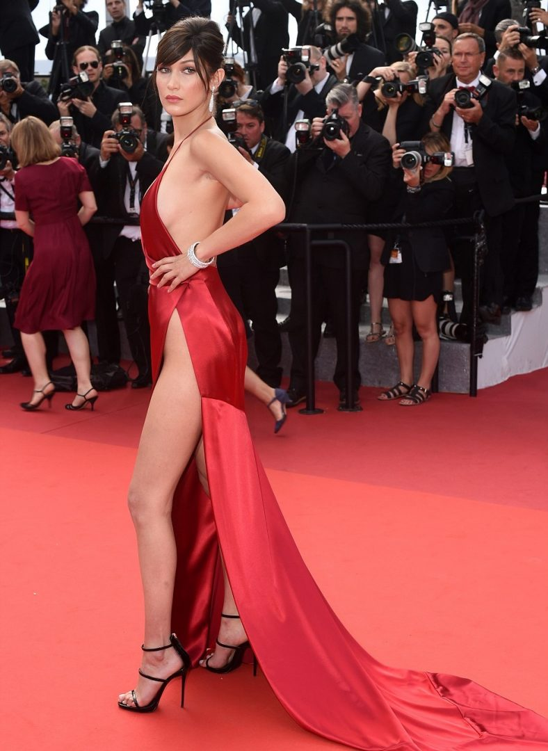 Bella Hadid cannes red carpet 2