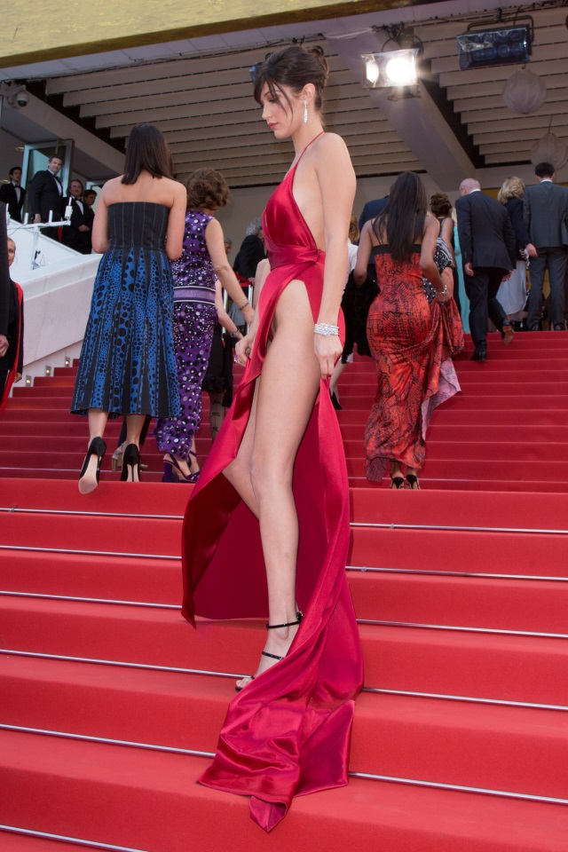 Bella Hadid cannes red carpet 4