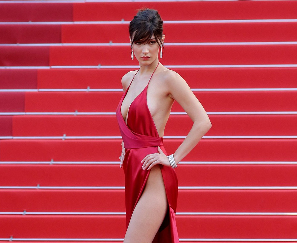 Bella Hadid cannes red carpet 5