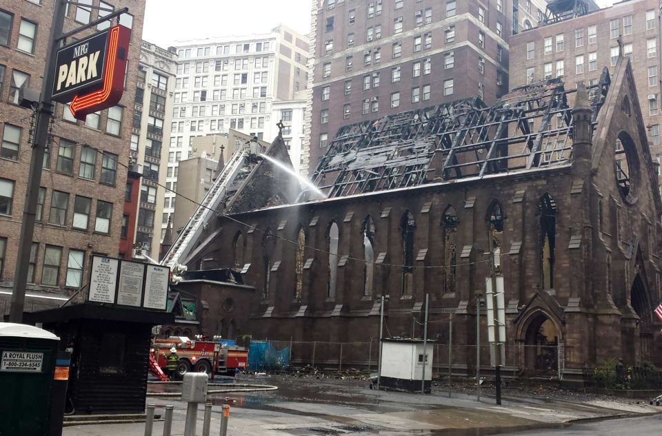 Serbian Orthodox Cathedral of St Sava NYC Fire 3