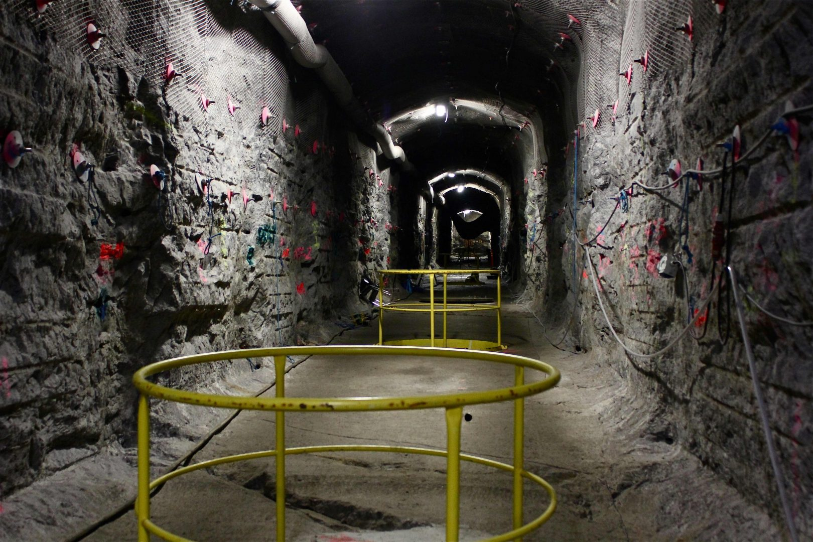 A view of the world's first underground repository for highly radioactive nuclear waste at the Olkiluoto nuclear power plant on April 28, 2016, on the island of Eurajoki, western Finland. Underneath the green island engineers are digging the world's first permanent repository to store highly radioactive nuclear waste for the next hundred thousand years. / AFP PHOTO / Sam Kingsley