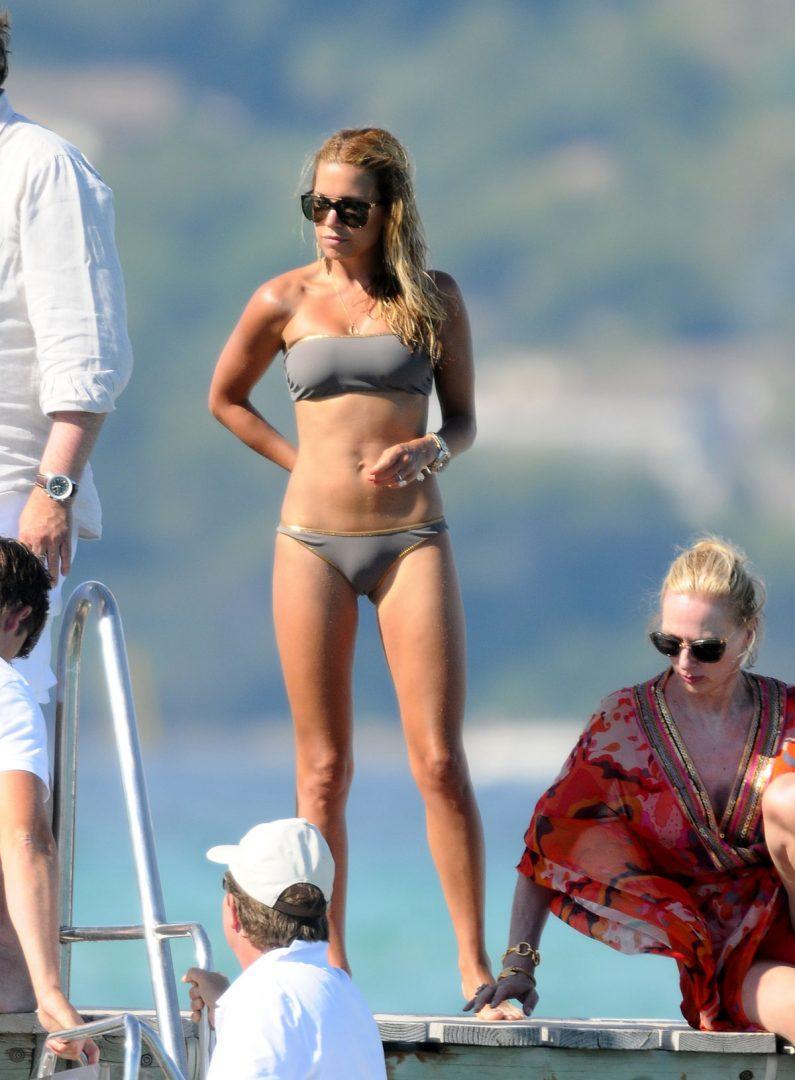 SYLVIE Van Der VAART in Bikini at Club 55 in Saint Tropez