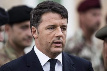 epa05515775 Italian Prime Minister Matteo Renzi in Amatrice to attend the funeral of 37 victims of the earthquake which devastated Amatrice, central Italy, 30 August 2016. Construction crews worked through the night to build a tent complex to host funeral after outraged residents rejected the government's plan to hold the service in a distant airport hangar. The evening Mass will be the second state funeral for victims of the earthquake that flattened three towns in central Italy. The first funeral which was held on 27 August honored victims from the Le Marche region. The ceremony set for later on 30 August is held for the victims of the neighboring Lazio region, including the hard-hit village of Amatrice.  EPA/ROBERTO SALOMONE  EPA/ROBERTO SALOMONE