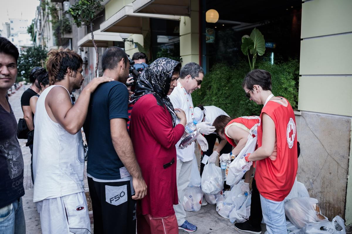 Immigrants at Victoria Square. in Athens central, on Sept. 8, 2015 / ?????????? ???? ??????? ?????????, ???? 8 ???????????, 2015
